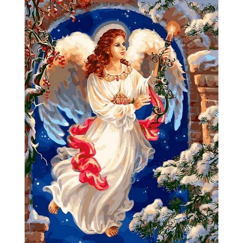 Картина по номерам Рождественский ангел, 40x50 см., Babylon