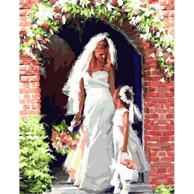 Картина по номерам  Свадебный ангел. Худ. Ричард Макнейл, 40x50 см., Babylon