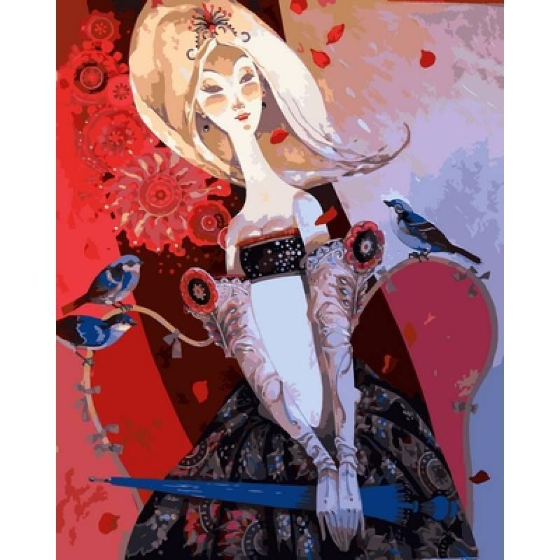 Картина по номерам  Леди с зонтиком, 40x50 см., Babylon