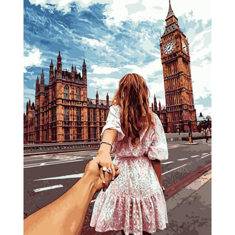 Картина по номерам Следуй за мной Лондон. Худ. Мурад Османн, 40x50 см., Babylon