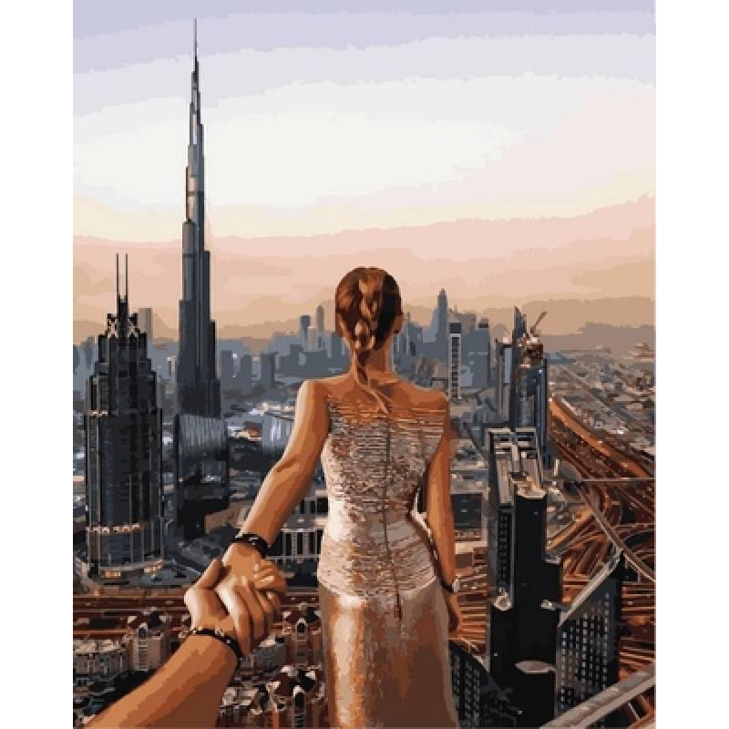 Картина по номерам Следуй за мной Дубай. Худ. Османн Мурад, 40x50 см., Babylon