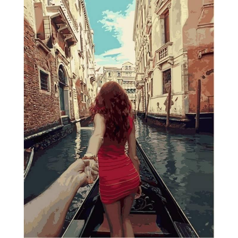 Картина по номерам  Следуй за мной Венеция. Худ. Мурад Османн , 40x50 см., Babylon