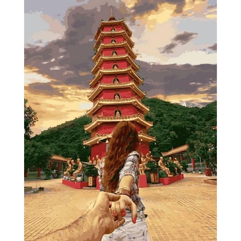 Картина по номерам Следуй за мной Гонконг худ. Османн Мурад, 40x50 см., Babylon