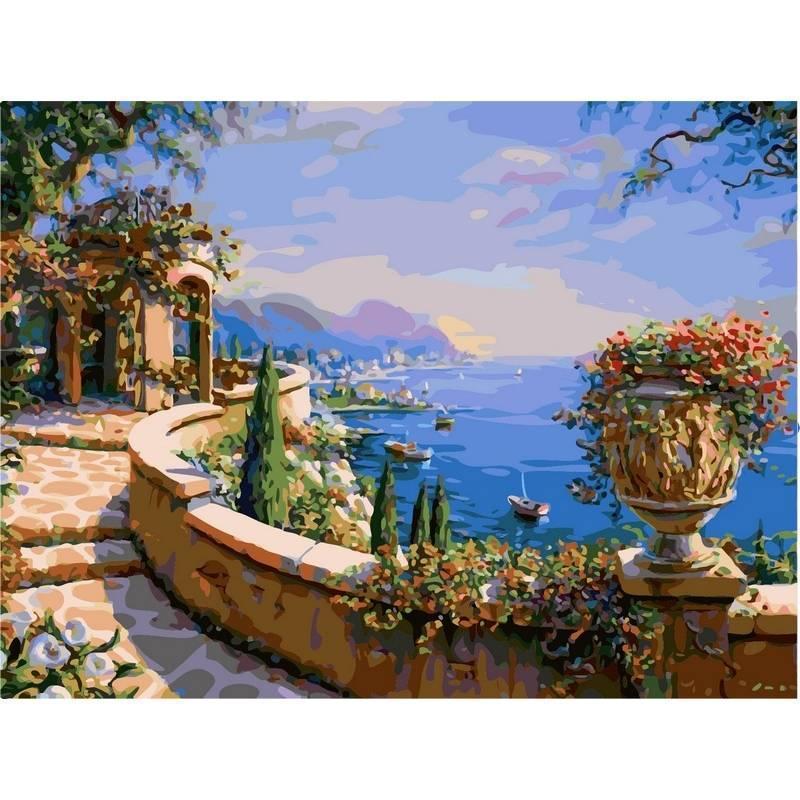 Картина по номерам Набережная Италии, 40x50 см., Babylon