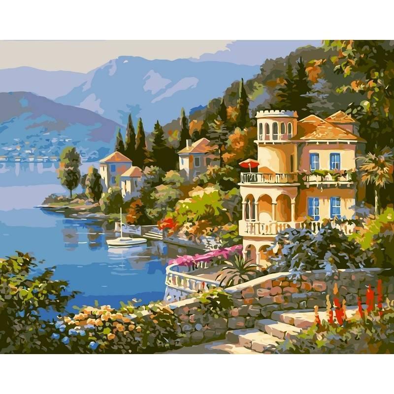 Картина по номерам Цветущее побережье. Худ. Сунг Ким, 40x50 см., Babylon