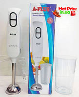 Блендер ручной погружной A-Plus HB-1579 350w с чашей