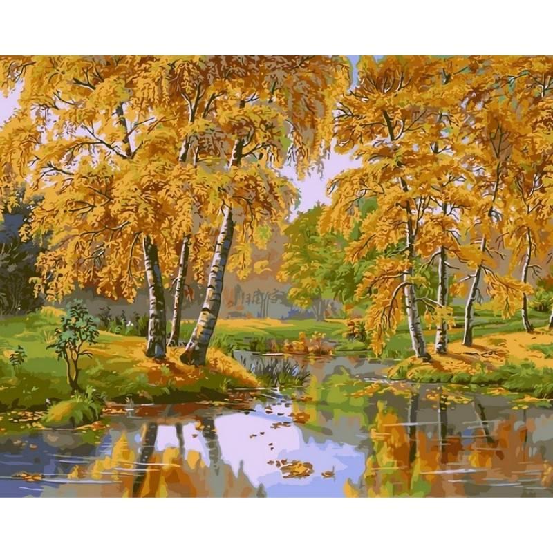 Картина по номерам Осенний день. Худ. Виктор Цыганов, 40x50 см., Babylon