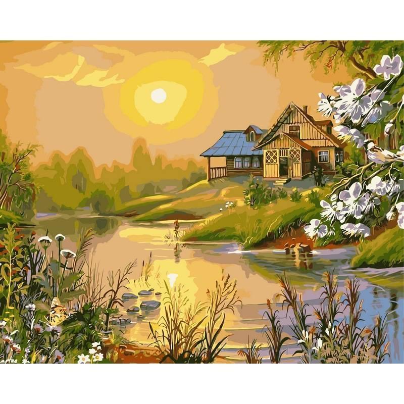 Картина по номерам Солнечный весенний день, 40x50 см., Babylon