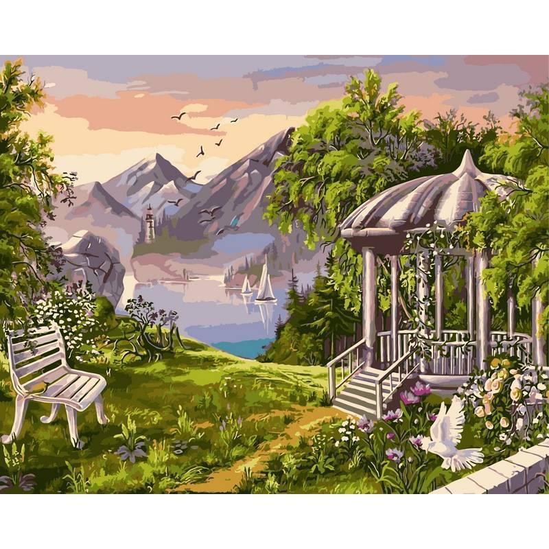 Картина по номерам Беседка в горах, 40x50 см., Babylon