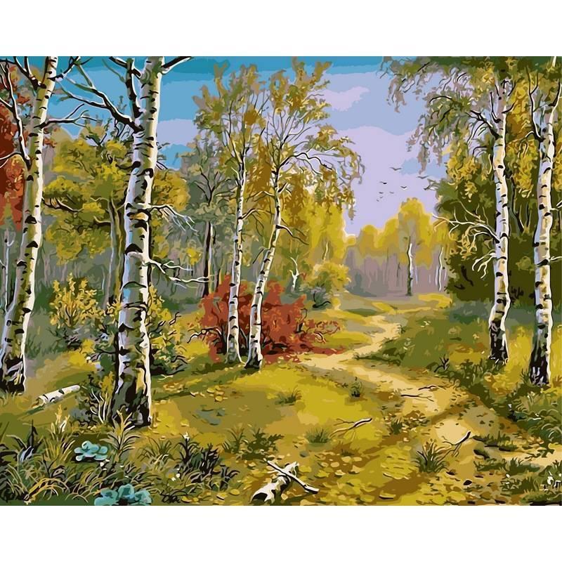 Картина по номерам VP180 Тропинка в лесу. Худ. Виктор Цыганов, 40x50 см., Babylon