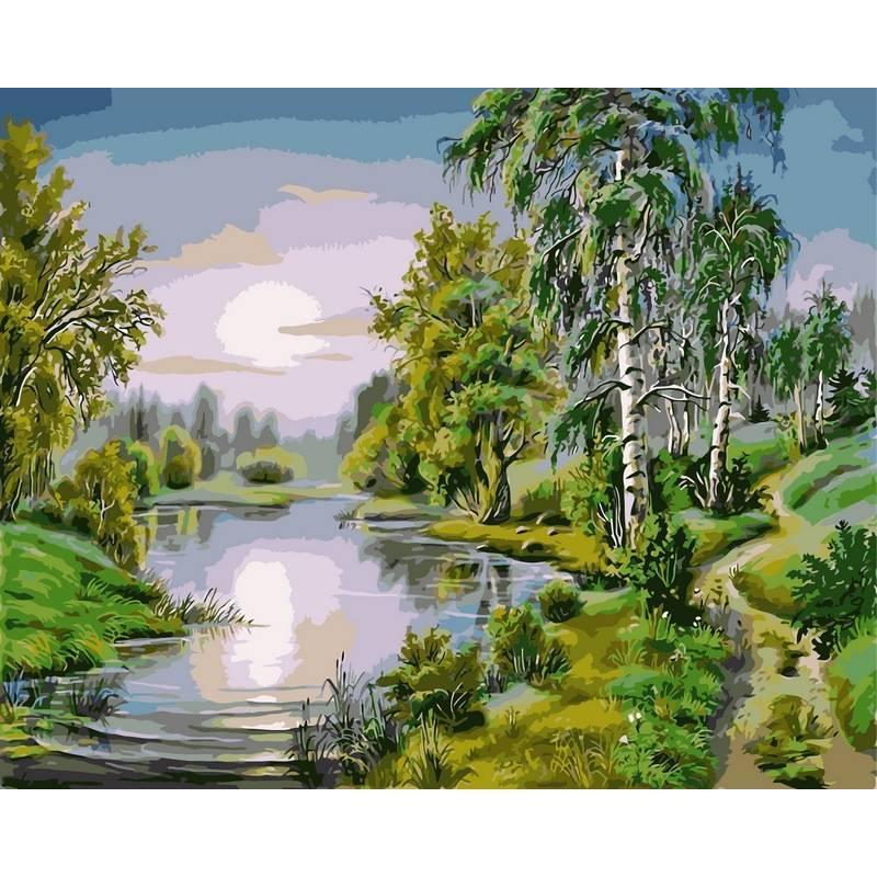 Картина по номерам У озера, 40x50 см., Babylon