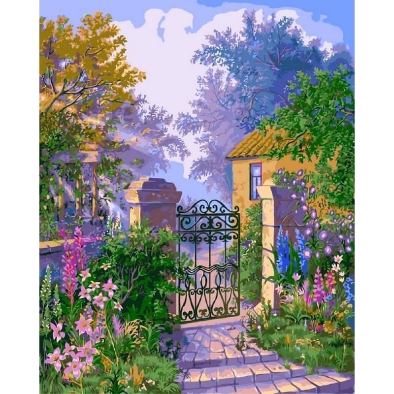 Картина по номерам Калитка в сад, 40x50 см., Babylon