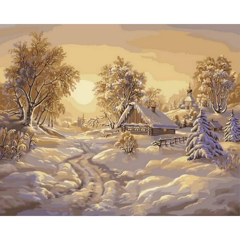 Картина по номерам Зимние сумерки, 40x50 см., Babylon