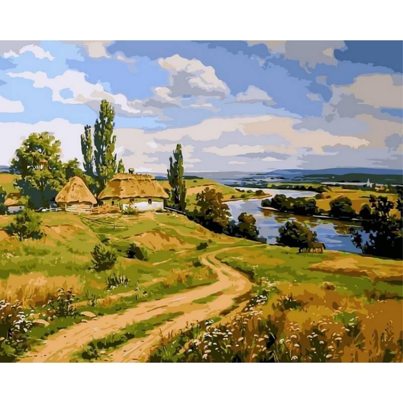 Картина по номерам Украинский пейзаж. Худ. Артур Орленов, 40x50 см., Babylon