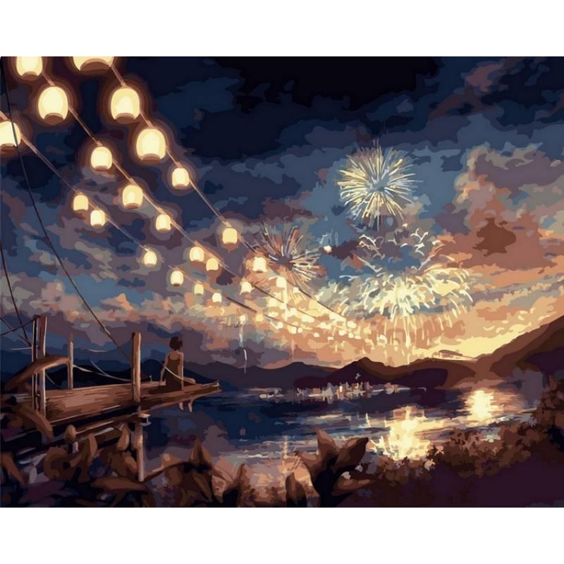 Картина по номерам  Волшебный фейерверк, 40x50 см., Babylon