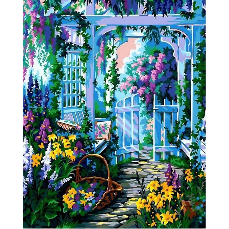 Картина по номерам  Сиреневый сад. Худ. Аня Сидди, 40x50 см., Babylon