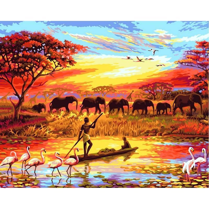 Картина по номерам Закат над Нилом, 40x50 см., Babylon