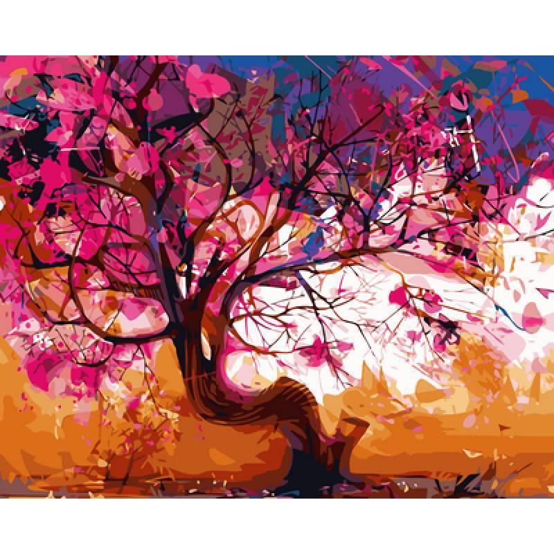 Картина по номерам Сакура. Худ. Маша Губарь, 40x50 см., Babylon