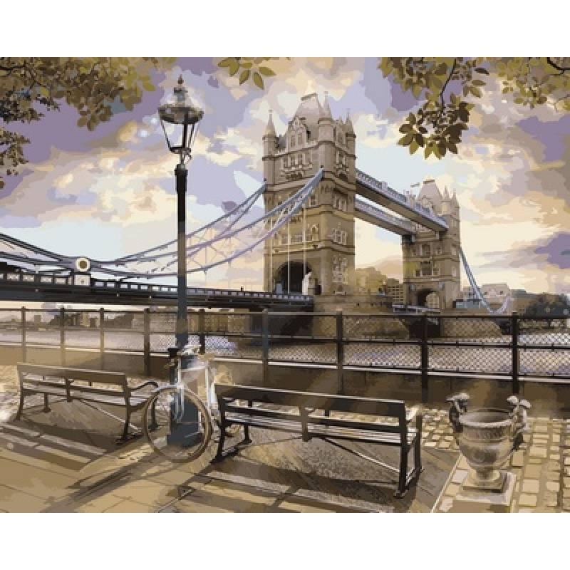 Картина по номерам Утро у Тауэрского моста, 40x50 см., Babylon