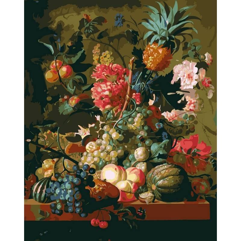 Картина по номерам Цветы и фрукты, 40x50 см., Babylon