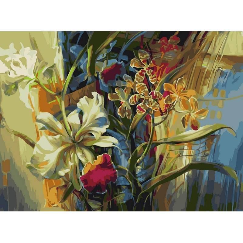 Картина по номерам Нежные орхидеи, 40x50 см., Babylon