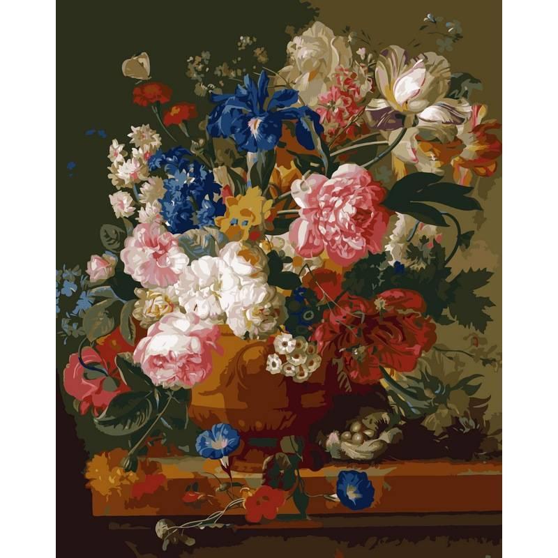 Картина по номерам Натюрморт с цветами. Худ. Паулюс Теодор ван Брюссель, 40x50 см., Babylon