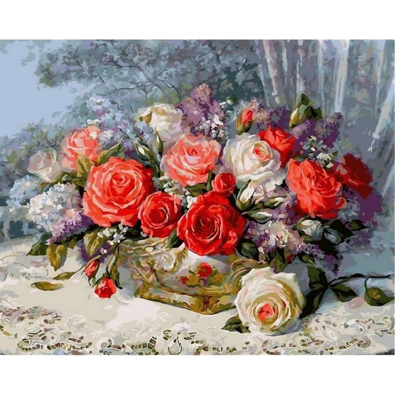 Картина по номерам  Розы на веранде, 40x50 см., Babylon