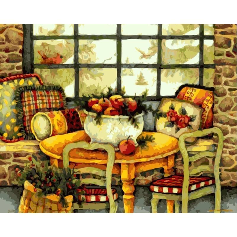 Картина по номерам  Зимний натюрморт. Худ. Лиза Бловерс, 40x50 см., Babylon