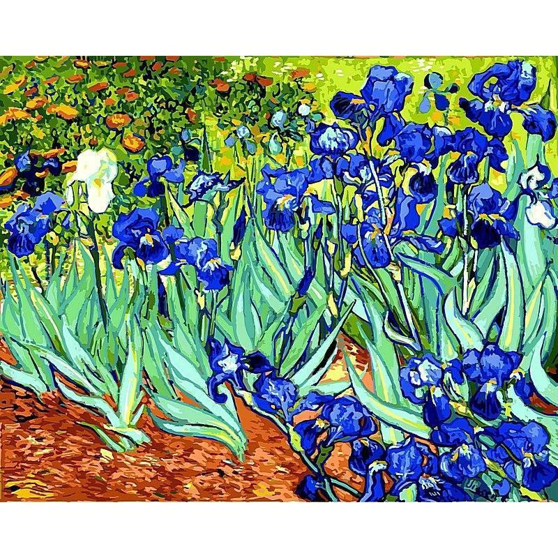 Картина по номерам Ирисы. Худ. Винсент Ван Гог, 40x50 см., Babylon