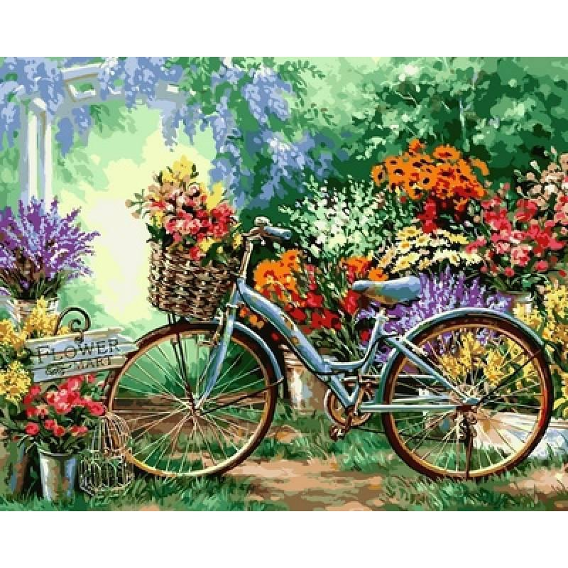 Картина по номерам  Весенние цветы. Худ. Дона Джелсингер , 40x50 см., Babylon