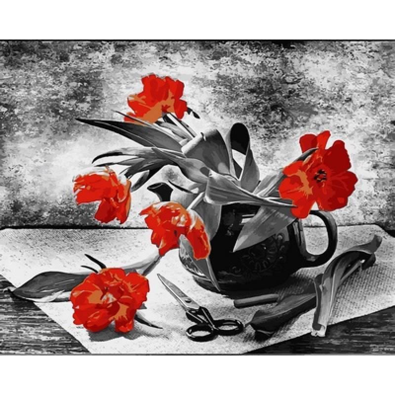 Картина по номерам Составляя букет, 40x50 см., Babylon