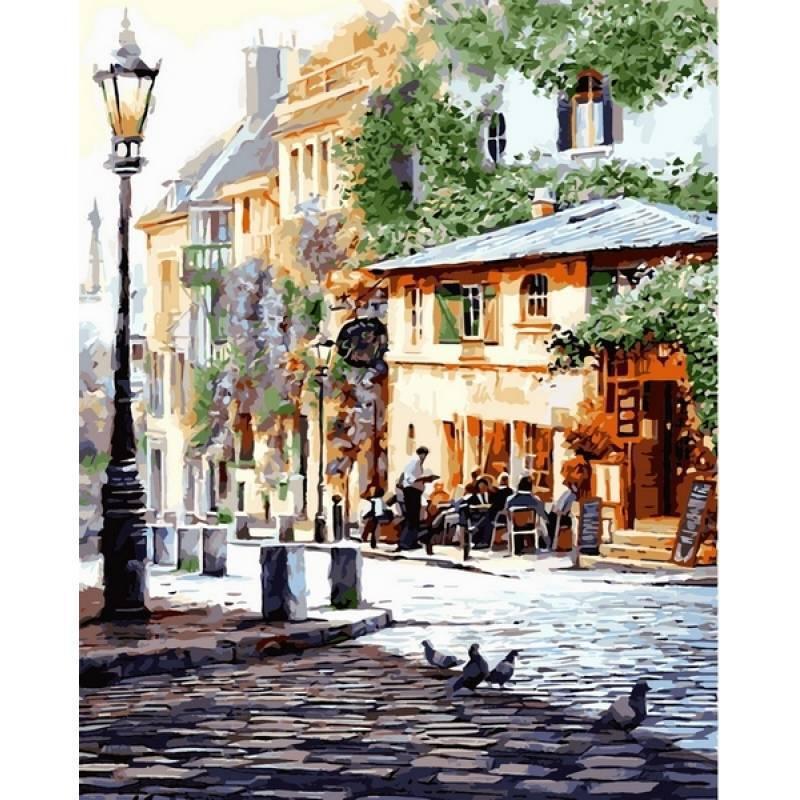 Картина по номерам Италия Летнее кафе. Худ. Ричард Макнейл, 50x65 см., Babylon