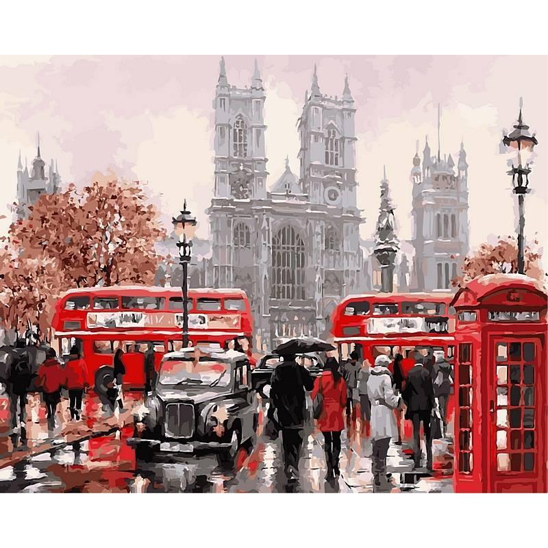 Картина по номерам Очарование лондона. Худ. Ричард Макнейл, 50x65 см., Babylon