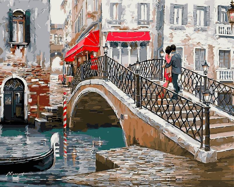 Картина по номерам VPS444 Мост влюбленных. Худ. Ричард Макнейл, 50x65 см., Babylon