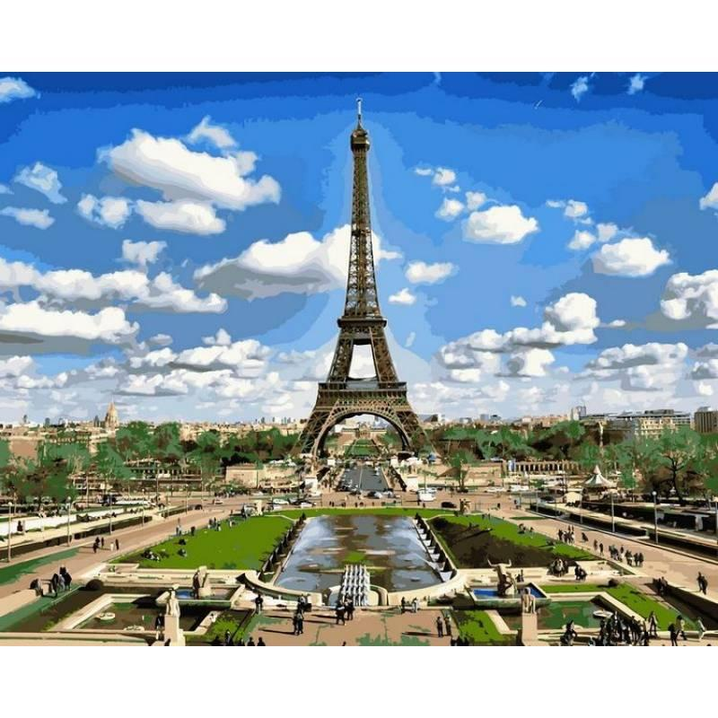 Картина по номерам Эйфелева башня весной, 50x65 см., Babylon