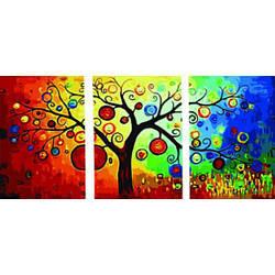 Картина по номерам Денежное дерево (Триптих), 50x150 см., Babylon