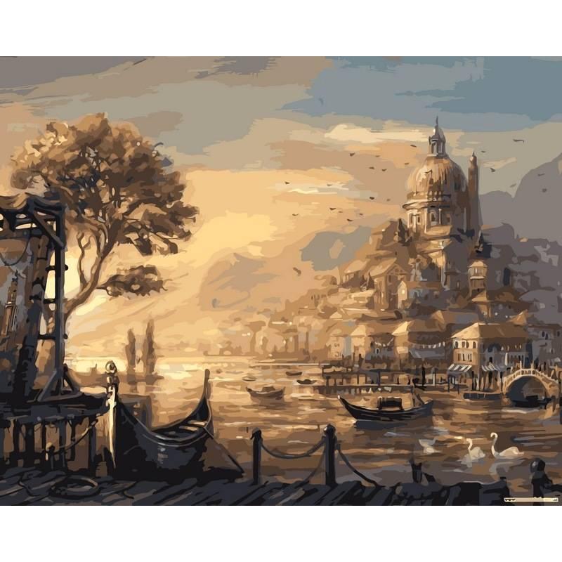 Картина по номерам VPS051 Вечерняя венеция, 50x65 см., Babylon