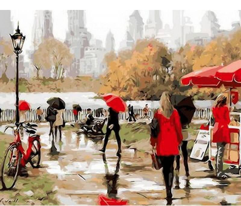 Картина по номерам Q267 Утро в Нью-Йорке. Худ. Ричард Макнейл, 40x50 см., Mariposa