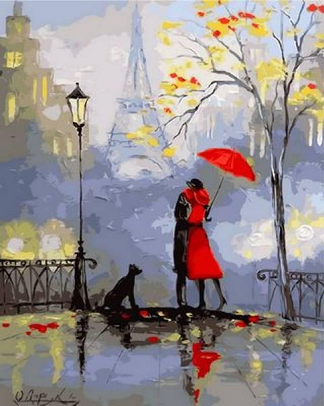 Картина по номерам Романтика Парижа, 40x50 см., Mariposa