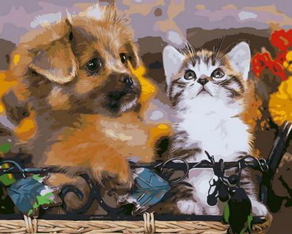 Картина по номерам Забавные малыши, 40x50 см., Mariposa