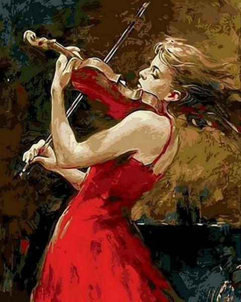 Картина по номерам Музыка огня. Худ. Андрей Атрошенко, 40x50 см., Mariposa