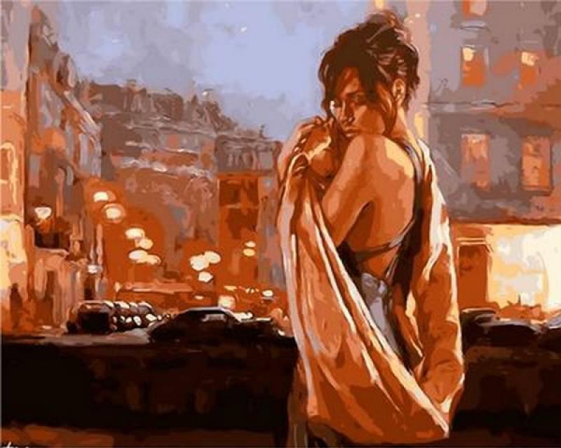 Картина по номерам Q914 Объятия ночного города. Худ. Марк Спейн , 40x50 см., Mariposa