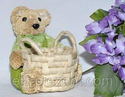 Плетеная корзинка Мишка для мелочей