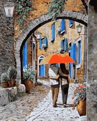 Картина по номерам Объятия под аркой. Худ. Гвидо Борелли, 40x50 см., Mariposa