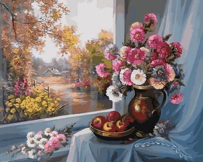 Картина по номерам Цветочный натюрморт. Худ. Анка Булгару, 40x50 см., Mariposa