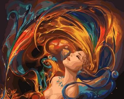 Картина по номерам Фантазия. Худ. Ван Юэ, 40x50 см., Mariposa
