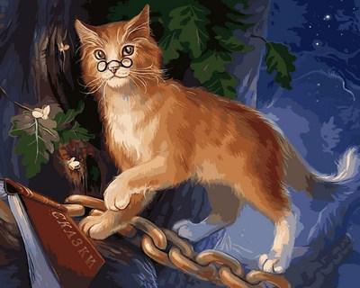 Картина по номерам Кот ученый. Худ. Наталья Мотуз, 40x50 см., Mariposa