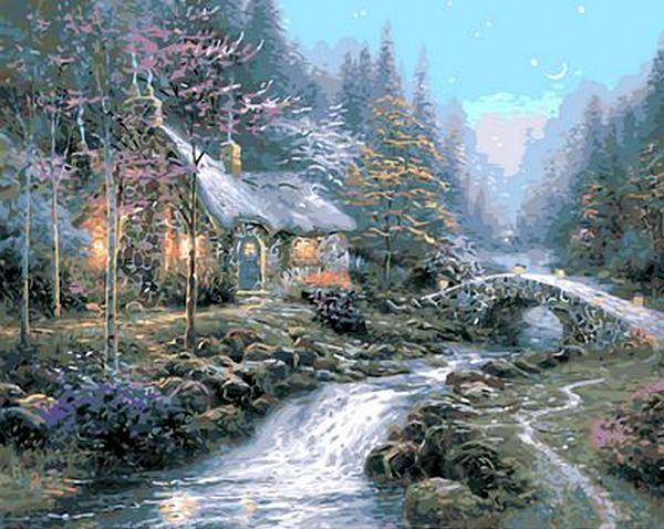 Картина по номерам Дом волшебника. Худ. Томас Кинкейд, 40x50 см., Mariposa