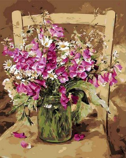 Картина по номерам Душистый горошек. Худ. Коттерил Анне, 40x50 см., Mariposa