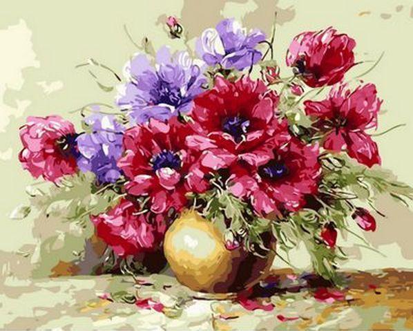 Картина по номерам Яркий букет. Худ. Антонио Джанильятти, 40x50 см., Mariposa